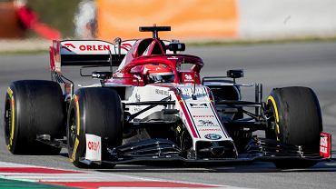 Robert Kubica podczas testów w Barcelonie