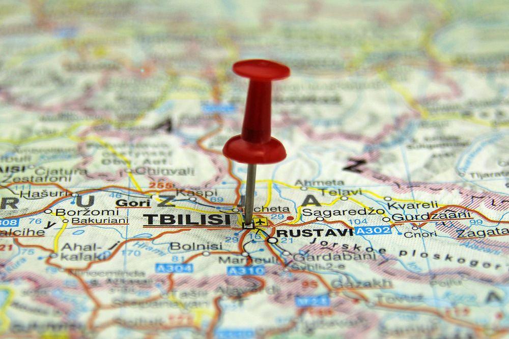 Tbilisi na mapie Gruzji