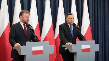 Briefing prasowy Andrzeja Dudy, Warszawa, 8 marca 2020.