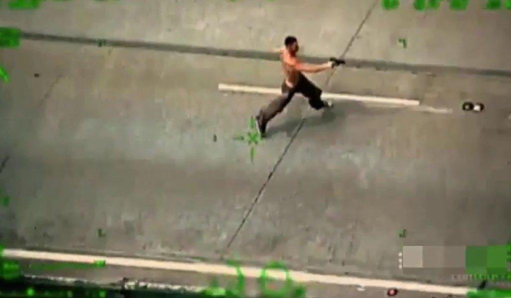 Kadr z policyjnego nagrania pościgu w Nowej Południowej Walii
