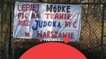 Protest przeciwko odebraniu stadionu Gwardii Warszawa