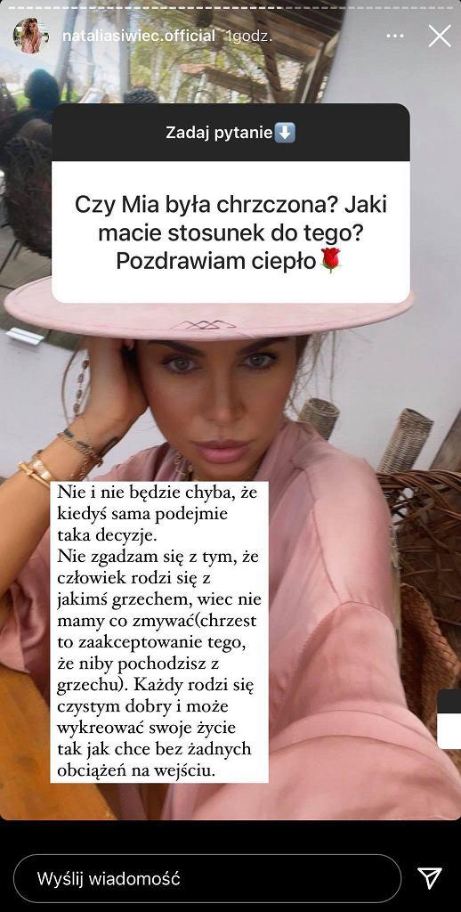 Natalia Siwiec zdradza, dlaczego nie ochrzciła córki. 'Nie zgadzam się z tym, że człowiek rodzi się z grzechem'