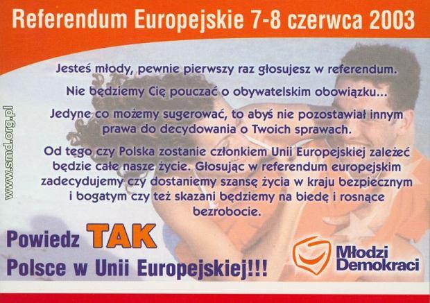 Materiały w kampanii referendalnej