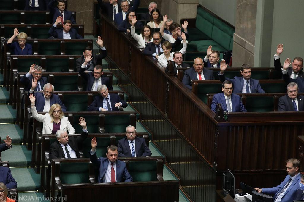 4.06.2020, Sejm, głosowanie nad wotum zaufania dla rządu
