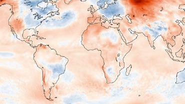 Mapa anomalii temperaturowej w maju 2020 roku