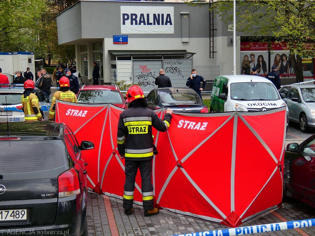 Strzelanina i atak nożownika na warszawskim Gocławiu