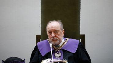 16.09.2020 Warszawa , Sad Najwyższy . Sędzia Sądu Najwyższego sędzia Józef Iwulski podczas rozprawy dotyczącej tzw. ustawy ' dezubekizacyjnej ' .