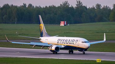Samolot, którym lecieli Roman Protasiewicz i Sofia Sapiega, na lotnisku w WIlnie