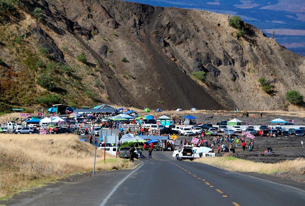 Hawaje. Protest przeciwko budowie wielkiego teleskopu na Mauna Kea