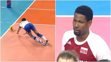 Wilfredo Leon świetnie prezentował się na zagrywce podczas meczu Polska - Serbia