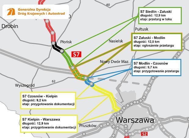 Budowa trasy S7 Płońsk-Czosnów