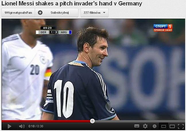 Leo Messi podczas meczu Niemcy - Argentyna (1:3)