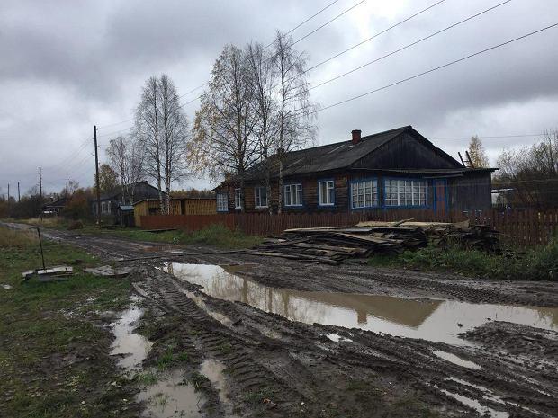 Zdjęcie z miejsca urodzenia Miszkina, Lojga na północy Rosji