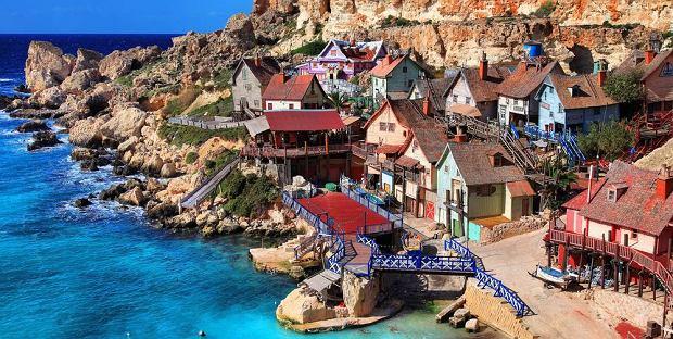 Jedna z atrakcji Malty, Popeye Village / fot. Shutterstock
