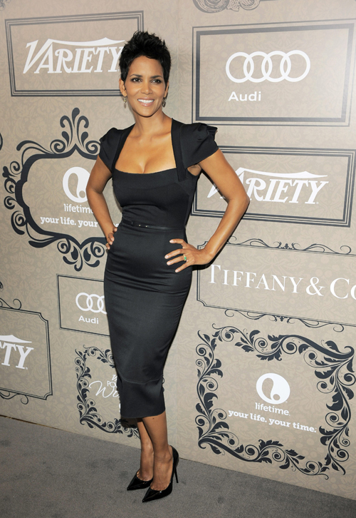 Actress Halle Berry poses at Variety?s 4th annual Power of Women event on Friday Oct. 5, 2012, in Beverly Hills, Calif.  (Photo by Chris Pizzello/Invision/AP)
