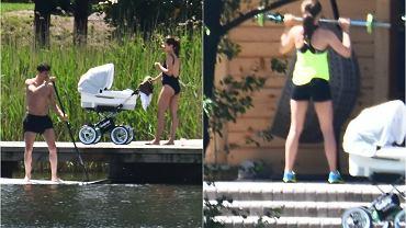 Anna i Robert Lewndowscy wypoczywają w Stanclewie na Warmii w swoim nowym, drewnianym domku. Oczywiście jest z nimi mała Klara. Zobaczcie, jak najsłynniejsza polska rodzina wypoczywa nad jeziorem. Anna robi sobie z córką selfie, Robert spaceruje bez koszulki, a potem... widok piłkarza trzymającego córkę rozczuli Was!
