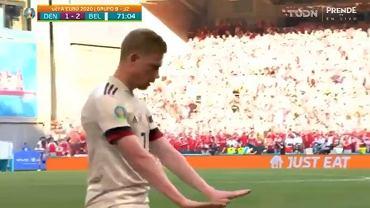Kevin De Bruyne nie celebrował gola w meczu z Danią