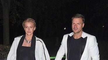 Katarzyna Warnke i Piotr Stramowski na pokazie Gosi Baczyńskiej
