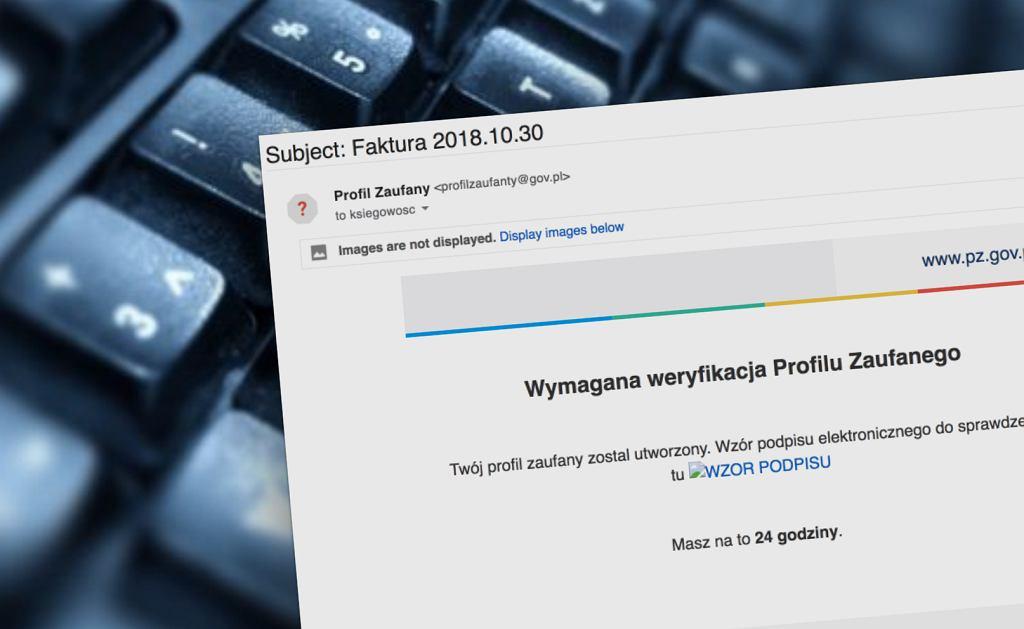 Przestępcy podszywają się pod serwis Profil Zaufany