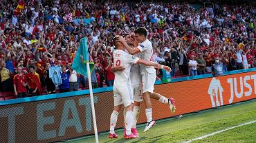 Hiszpania w meczu z Chorwacją na Euro 2020.