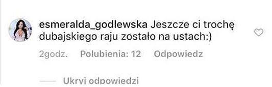 Komentarz Esmeraldy Godlewskiej