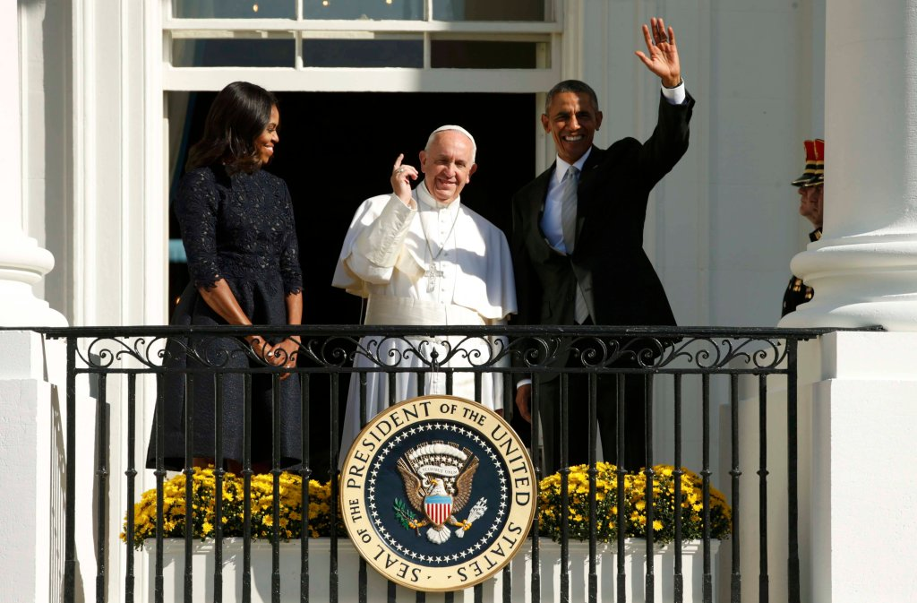 Powitanie papieża Francisza w Białym Domu