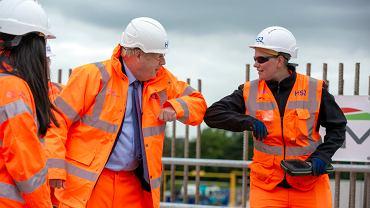 Wielka Brytania. Premier Boris Johnson na rozpoczęciu budowy superszybkiej linii kolejowej HS2.