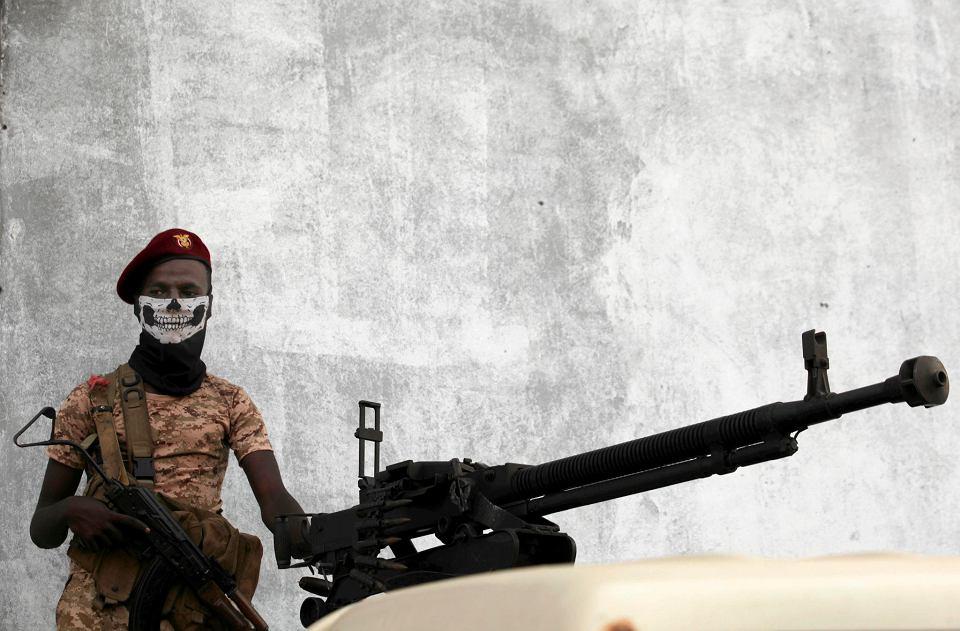 Jemeński żołnierz. Mukalla, Jemen, 29 października 2018