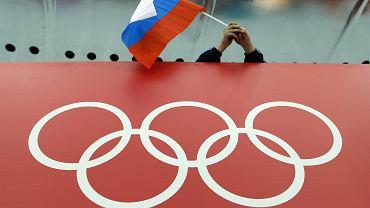 Rosyjska flaga na zimowych igrzyskach olimpijskich w Soczi