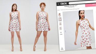 Ta sama sukienka, różne typy sylwetki.