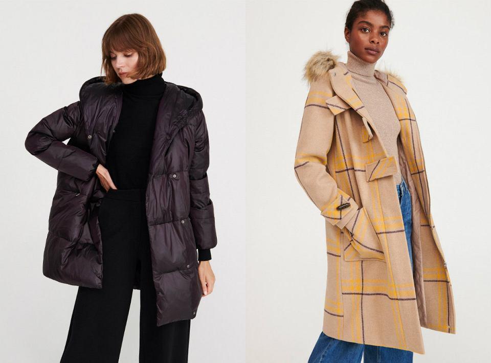 płaszcze zimowe z kapturem
