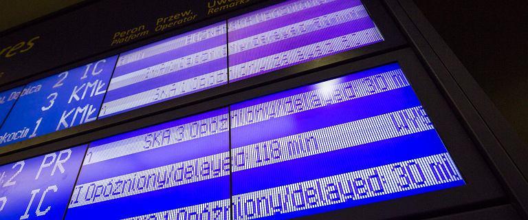Kraków. Dworzec Główny sparaliżowany. Pociągi opóźnione nawet o 160 minut