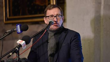 Jasna Góra, 7 stycznia 2017 r. Patriotyczna Pielgrzymka Kibiców. Spotkanie z prezesem IPN Jarosławem Szarkiem