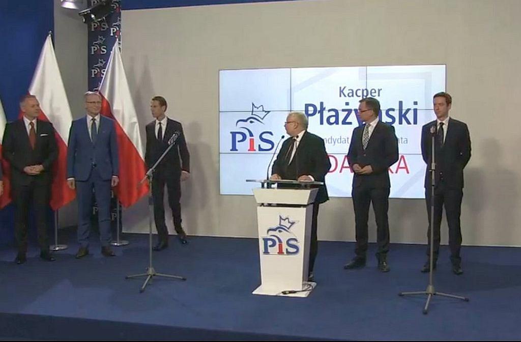 Prezes Jarosław Kaczyński ogłosił, że kandydatem PiS na prezydenta Gdańska został Kacper Płażyński