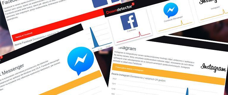 Facebook, Messenger, WhatsApp i Instagram przez godzinę miały awarię