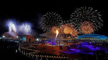 Fajerwerki, ceremonia otwarcia igrzysk w Soczi