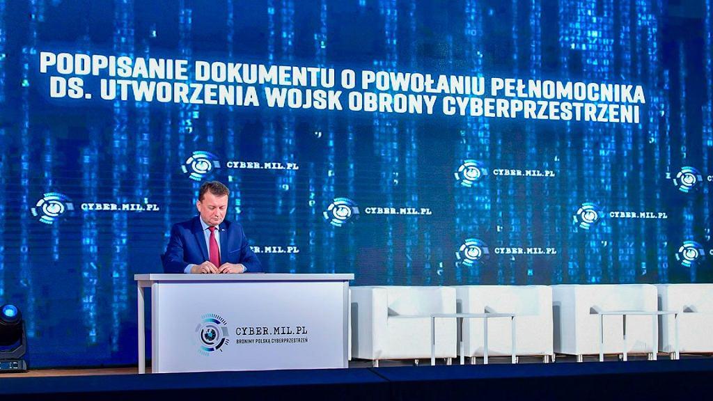 Szef MON podczas konferencji Cyber.mil.pl