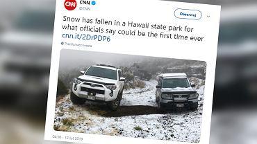 Hawaje. Po raz pierwszy w historii na wyspie Maui spadł śnieg