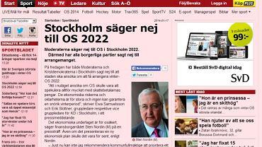 Sztokholm rezygnuje z ZIO w 2022