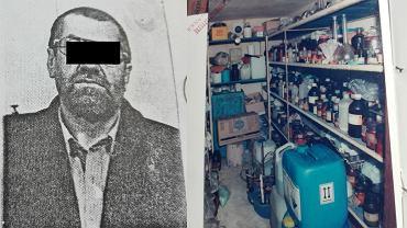 Ryszard J. i fragment jednego z jego laboratorium