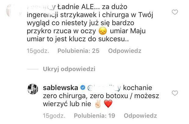 Maja Sablewska odpowiada na krytykę