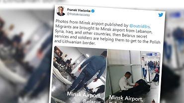 Białoruś. Paraliż lotniska w Mińsku. Migranci śpią na podłodze. 'To katastrofa'