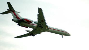 Rządowy TU-154m nad Okęciem. Warszawa, 2009