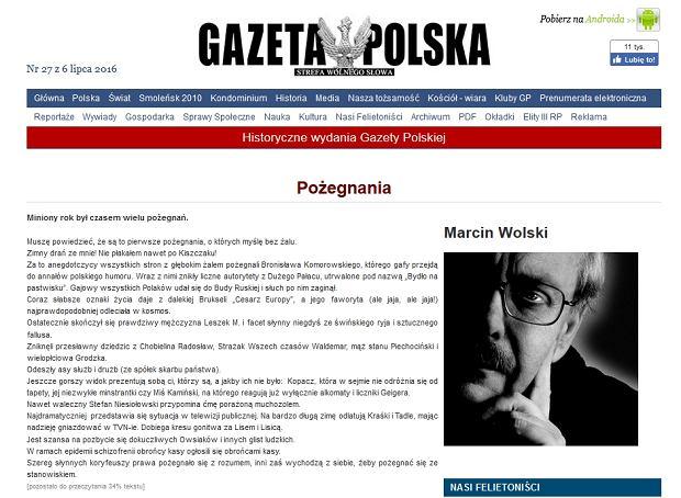 Felieton Marcina Wolskiego