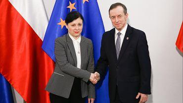 Vera Jourova i Tomasz Grodzki