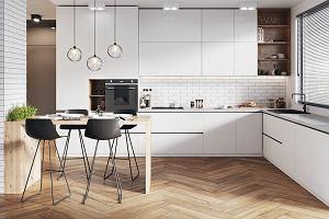Płytki podłogowe do kuchni: płytki drewnopodobne