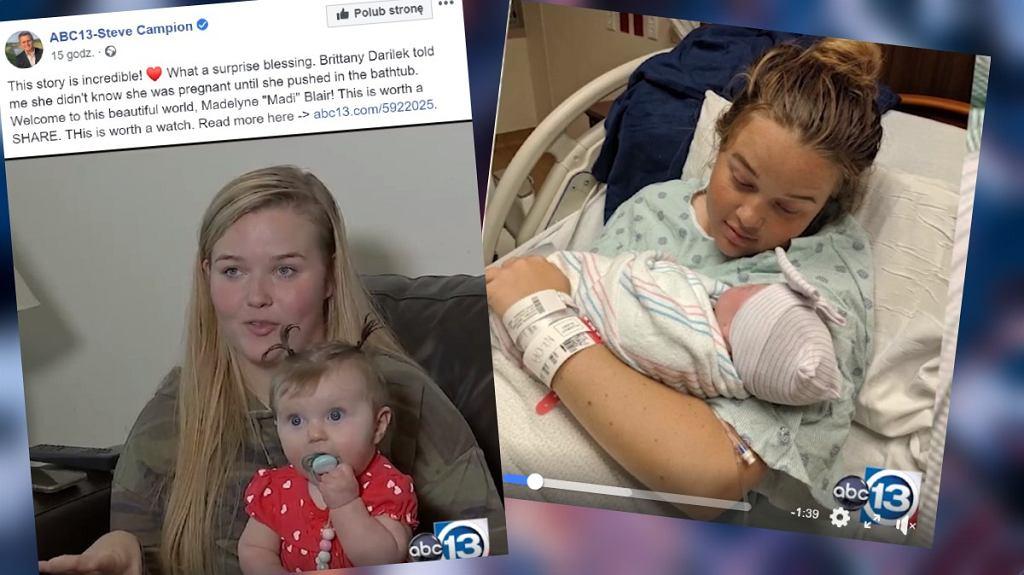 Kobieta nie wiedziała, że jest w ciąży. Urodziła w wannie
