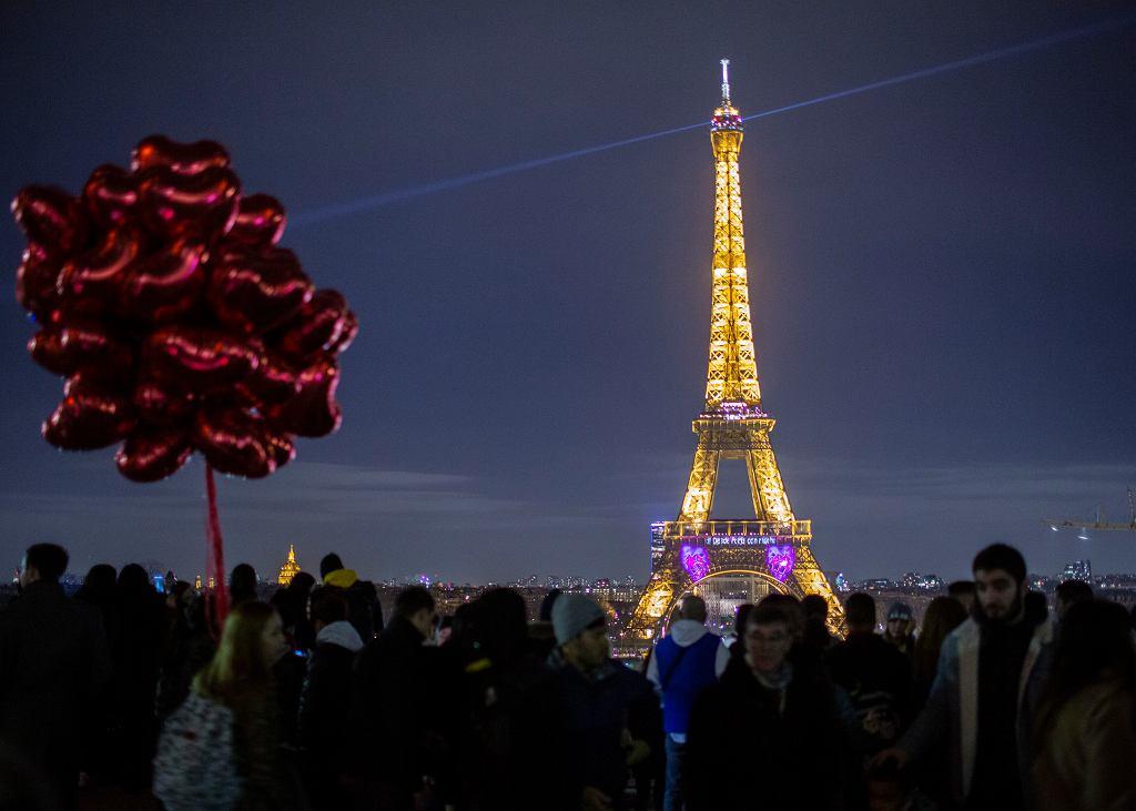 Paryż, Wieża Eiffla, turyści