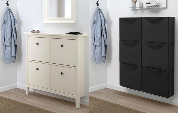Szafki na buty IKEA: Hemnes i Trones