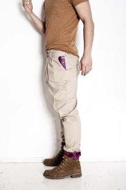 Spodnie z kolekcji Madox Design: beżowe bryczesy. Bawełna, żakard. Cena: 280 zł, spodnie, moda męska, kolekcje, Fantastyczne spodnie: Madox Design. Polska marka!